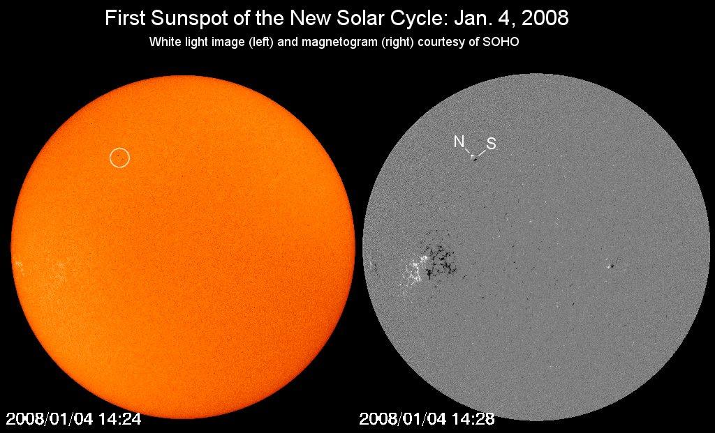 Cycle solaire 24 débute mais lentement Newspot